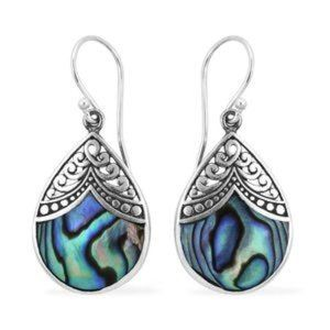 BALI LEGACY Abalone Shell Earrings Sterling Sliver
